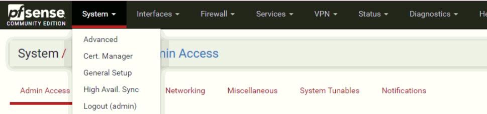 pfsense - public key for SSH