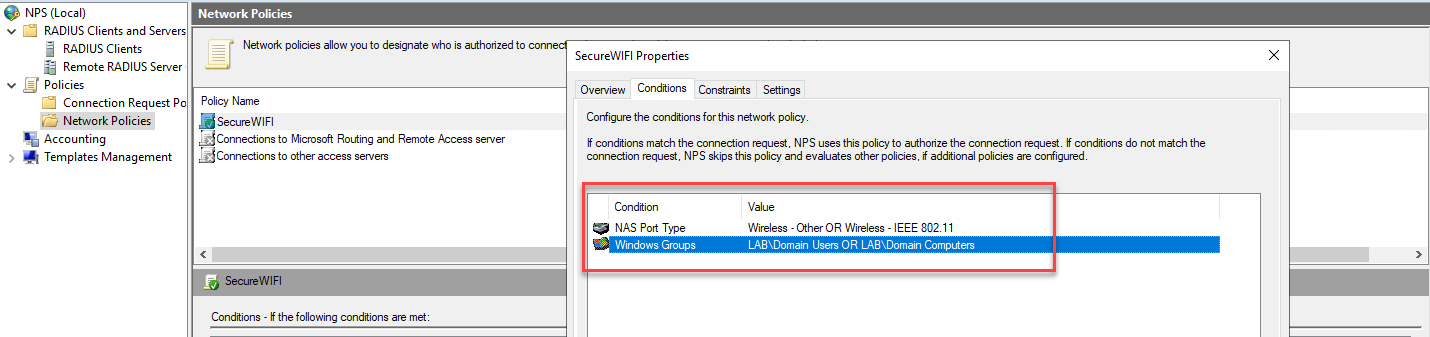 Setup NPS with EAP-TLS for Aruba WIFI