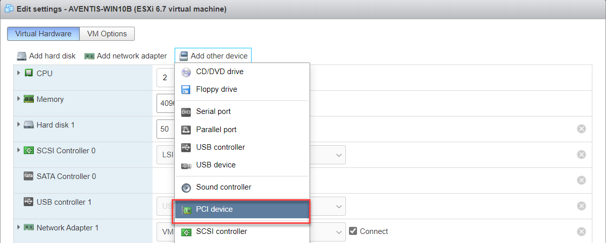 VMware PCI Passthrough WIFI in Intel NUC
