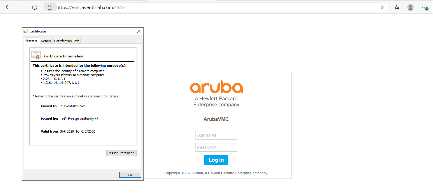 Replace Certificate on Aruba Controller