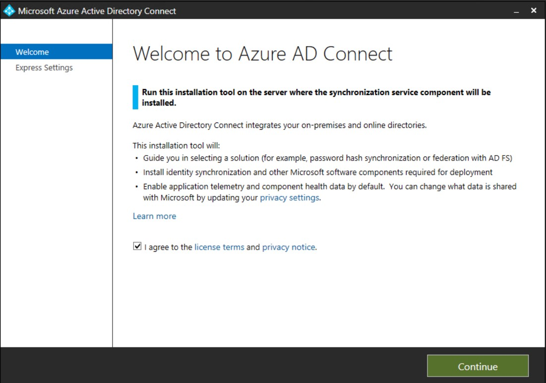Azure AD Connect for Exchange Hybrid Migration