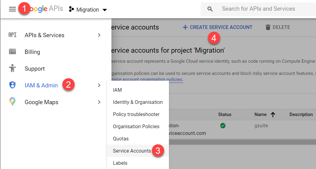 Migrate G Suite to O365 with API