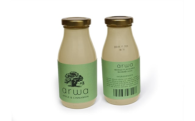 two bottles of arwa drink