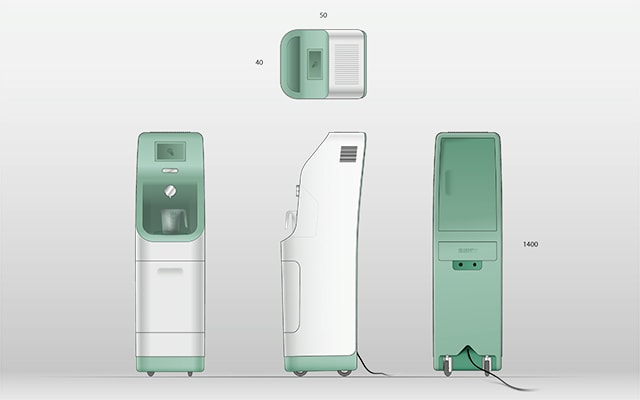 Rendering of a Lument dispensing machine