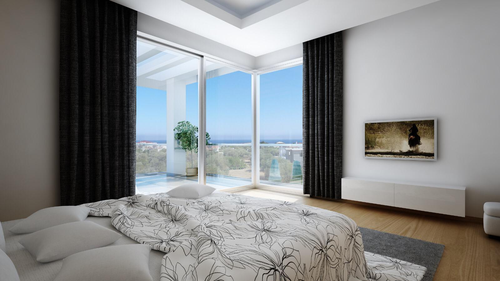 Dağ ve Deniz Manzaralı 4 Yatak Odalı Satılık Villalar 4727