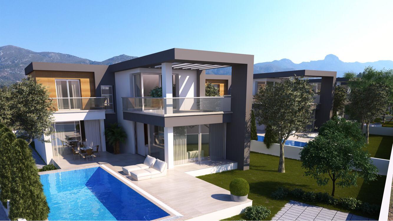 Dağ ve Deniz Manzaralı 4 Yatak Odalı Satılık Villalar 4730