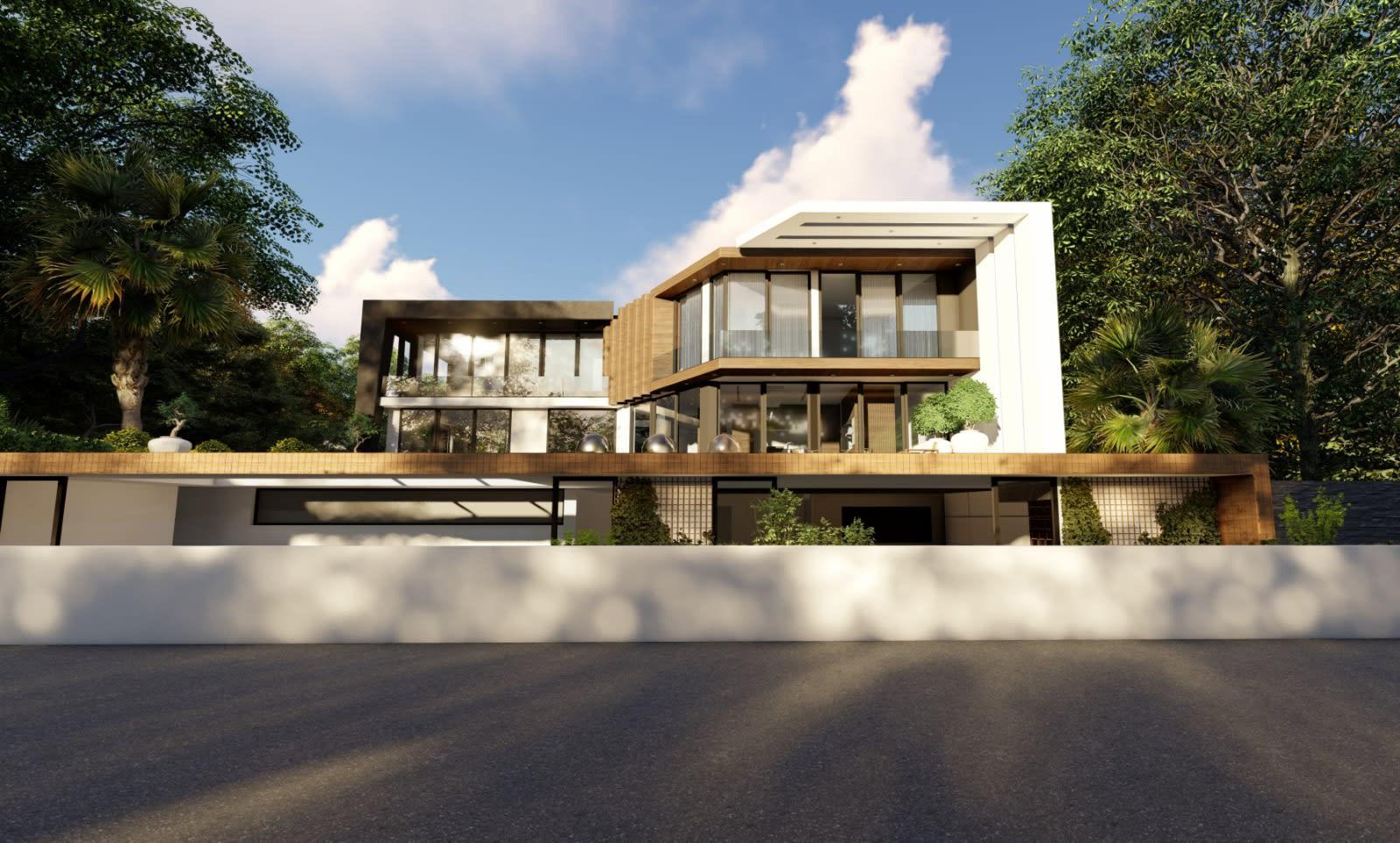 Yukarı Girne'de 7+1 Satılık Dağ, Deniz ve Orman Manzaralı Lüks Villa 5094