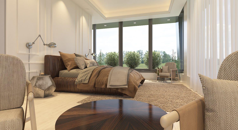 Yukarı Girne'de 7+1 Satılık Dağ, Deniz ve Orman Manzaralı Lüks Villa 5098