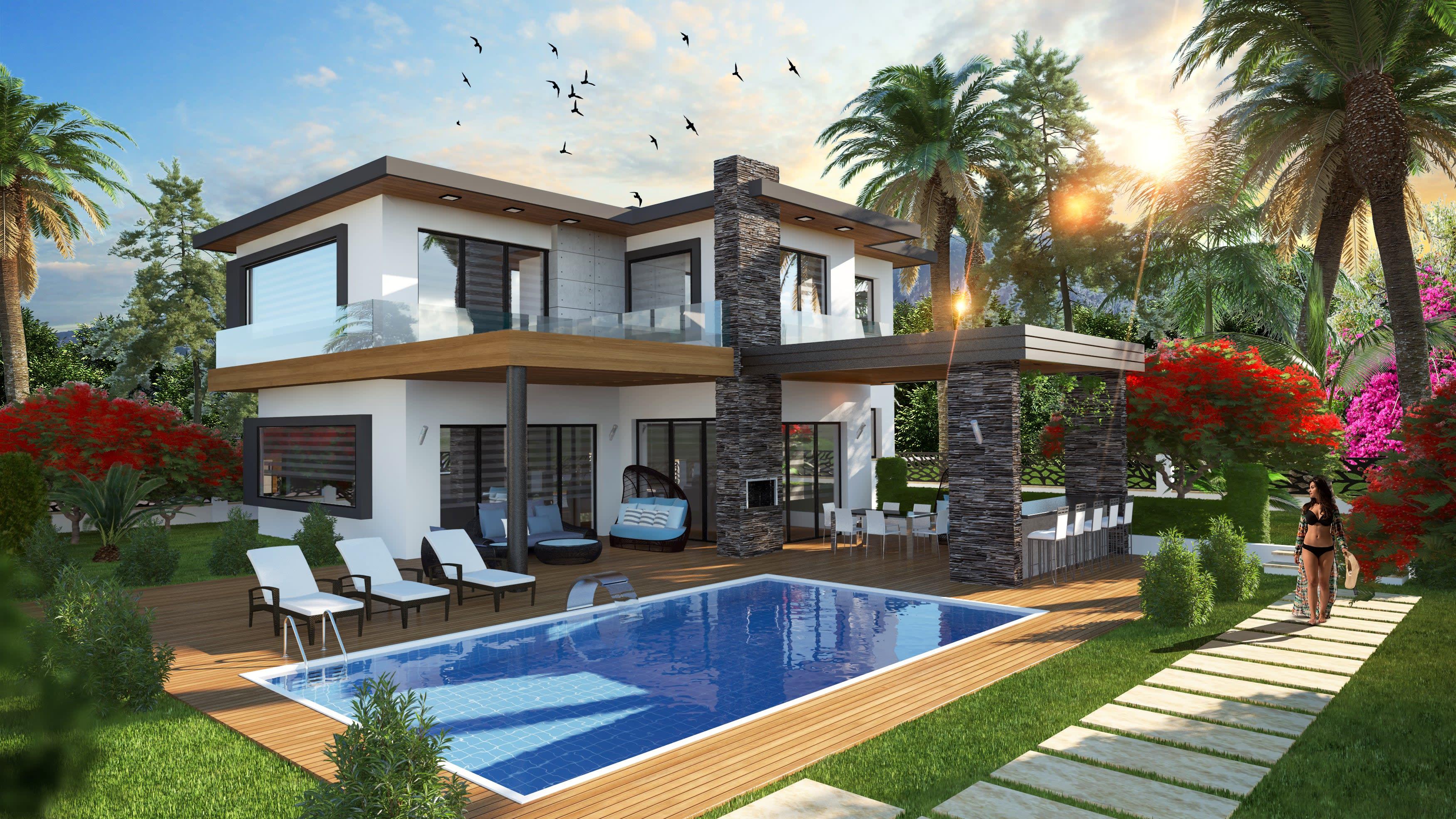 5 Yatak Odalı  Ciklos'ta Satılık Lüks Villa 5244