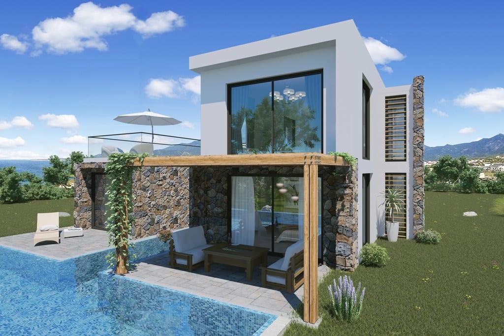 3 Yatak Odalı Alagadi'de Konumlandırılmış Havuzlu Satılık Villa 7009