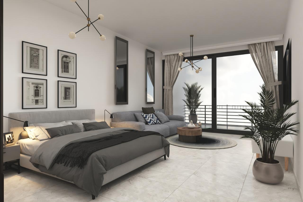 Esentepe'de Deniz ve Dağ Manzarlı Satılık Studio Daire 7064