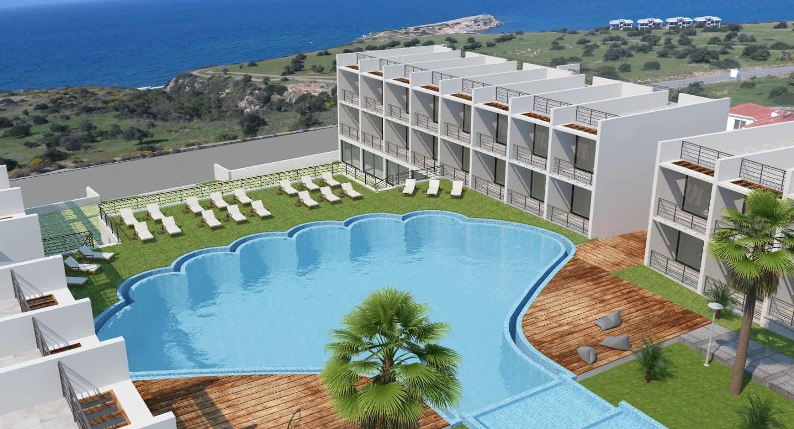 Esentepe'de Deniz ve Dağ Manzarlı Satılık Studio Daire 7072