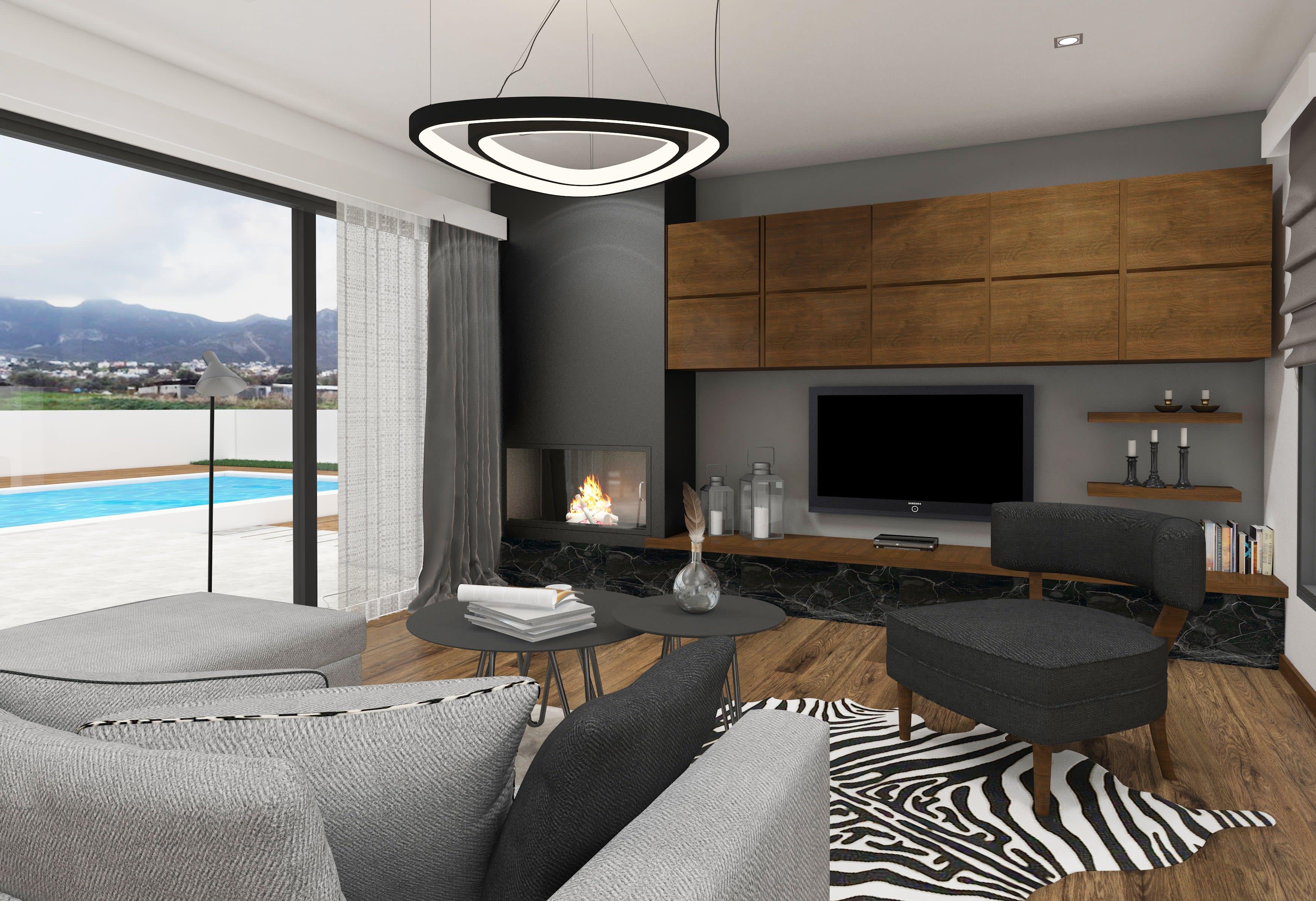 Çatalköy'de Satılık 4 Yatak Odalı ve Özel Havuzlu Lüks Villalar 7935