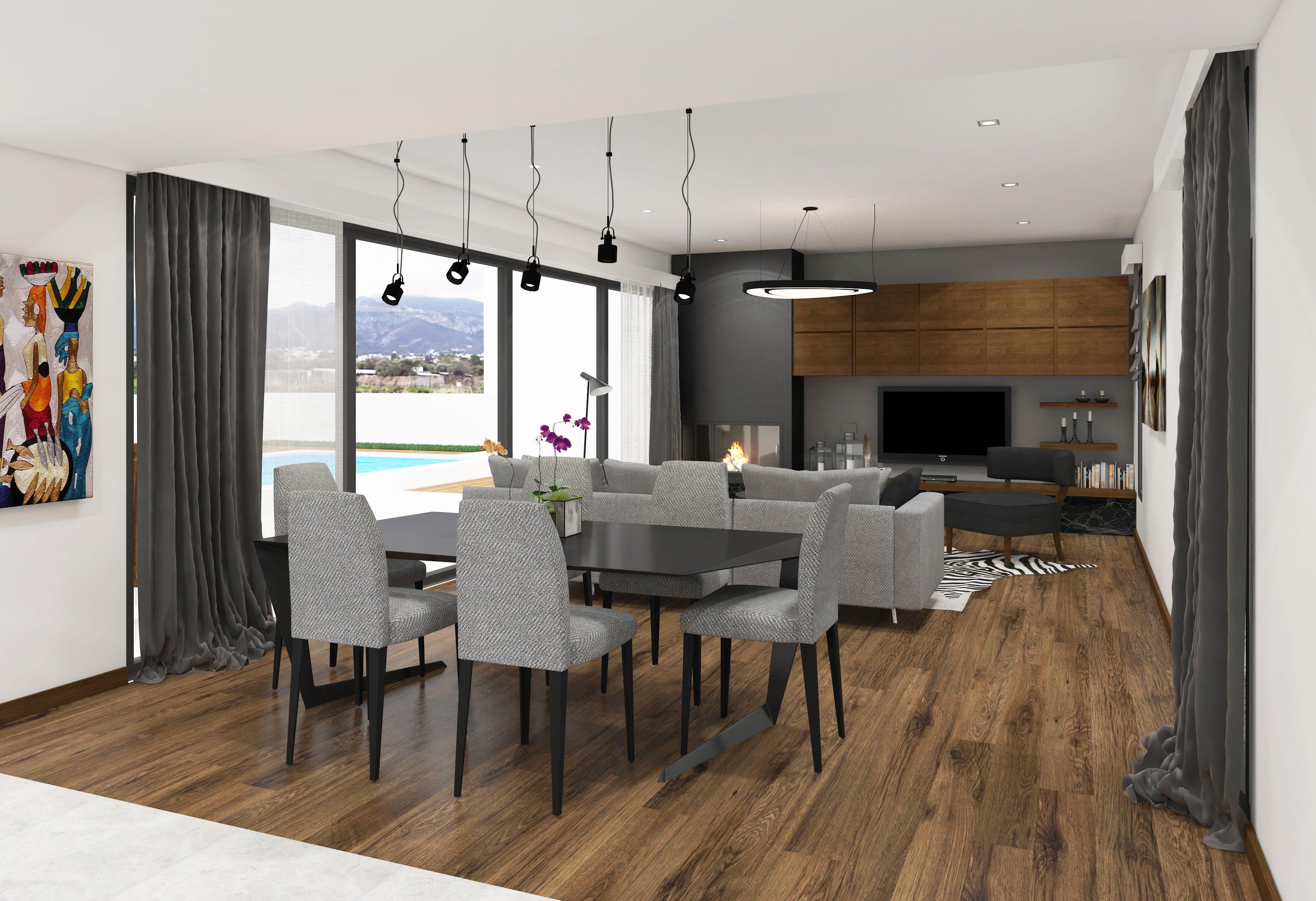 Çatalköy'de Satılık 4 Yatak Odalı ve Özel Havuzlu Lüks Villalar 7936