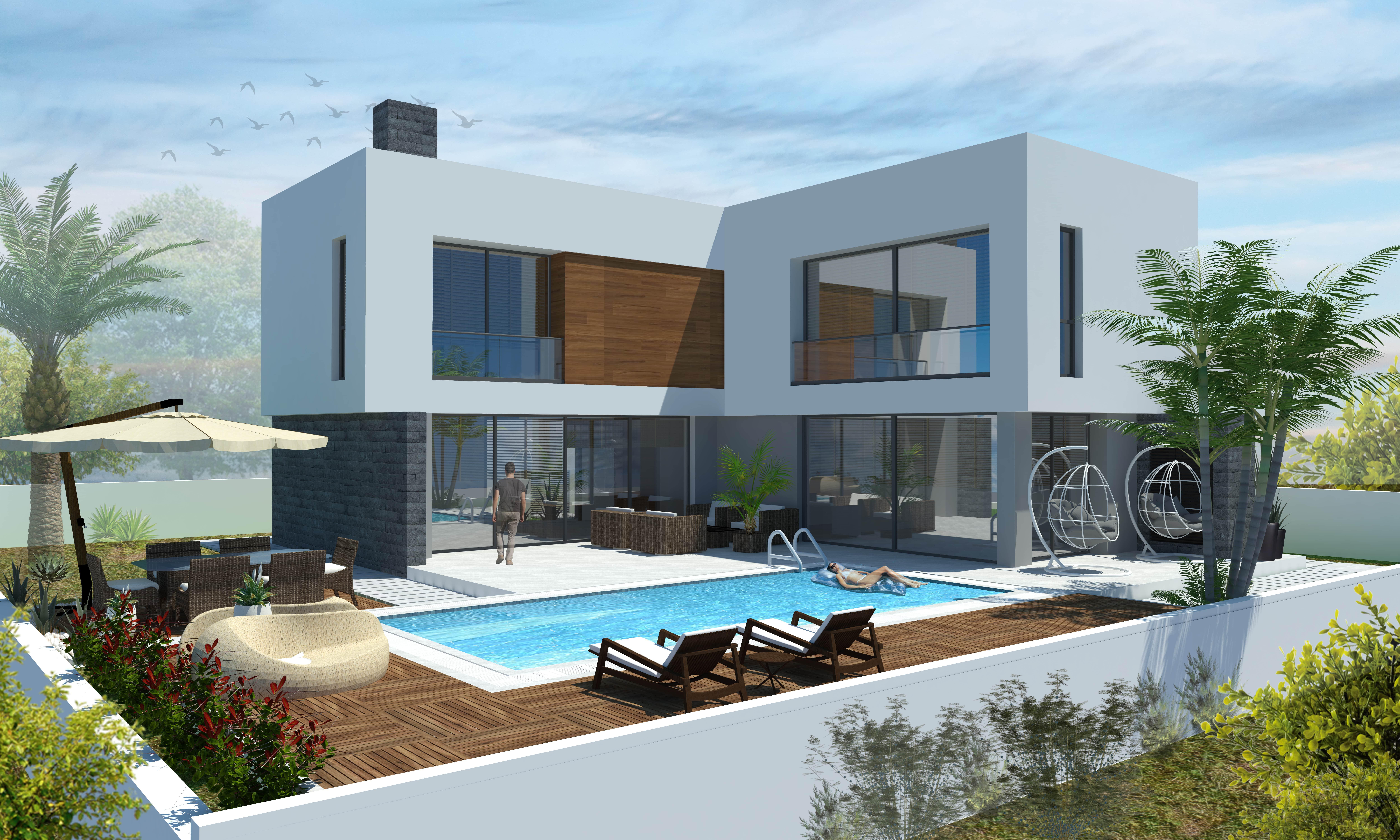 Çatalköy'de Satılık 4 Yatak Odalı ve Özel Havuzlu Lüks Villalar 7948