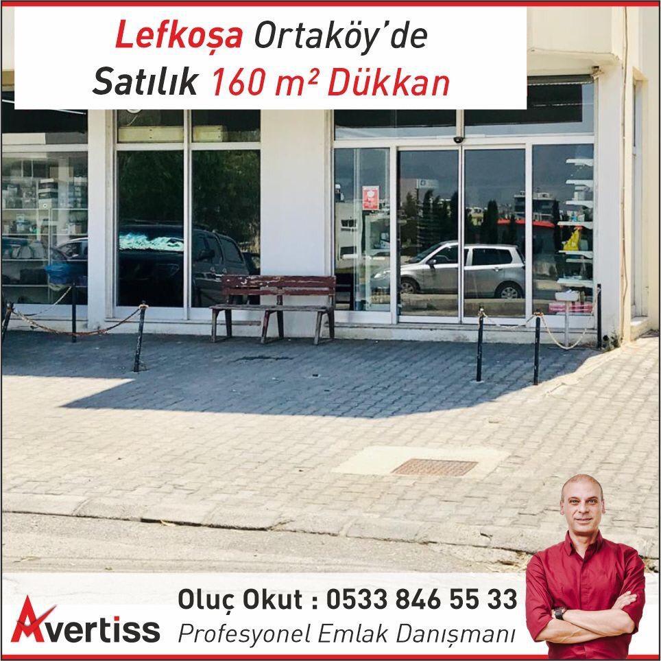 Lefkoşa Ortaköy'de Satılık 160m2 Dükkan 9434