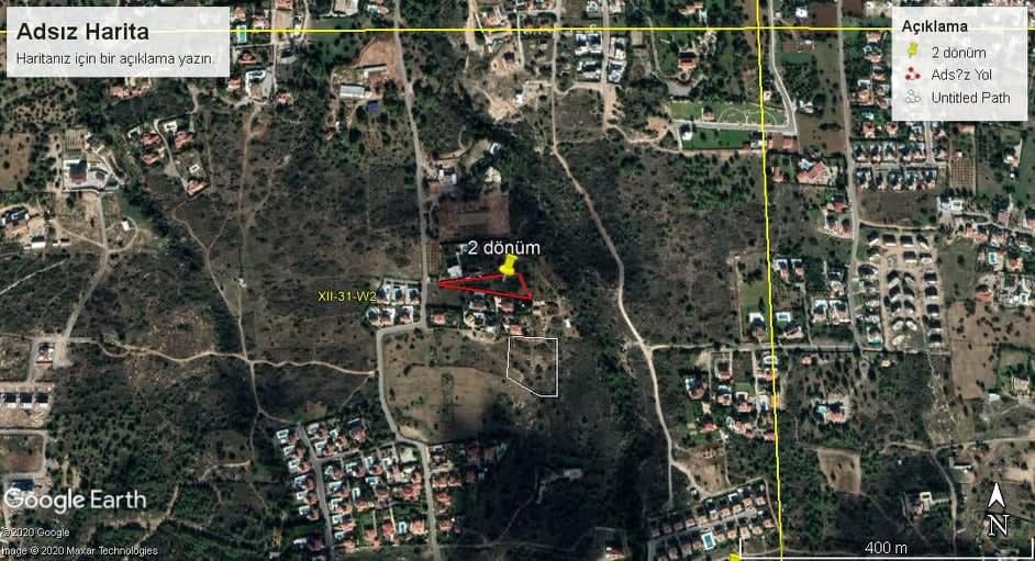 Kuzey Kıbrıs - Bellapais'de Satılık Arsa 9845
