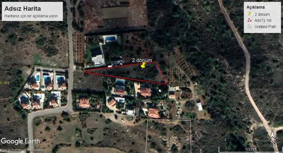 Kuzey Kıbrıs - Bellapais'de Satılık Arsa 9846