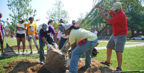 Arbor Day Planting Trees