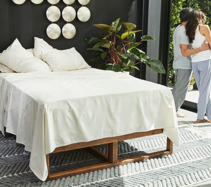 有机棉床单产品照片
