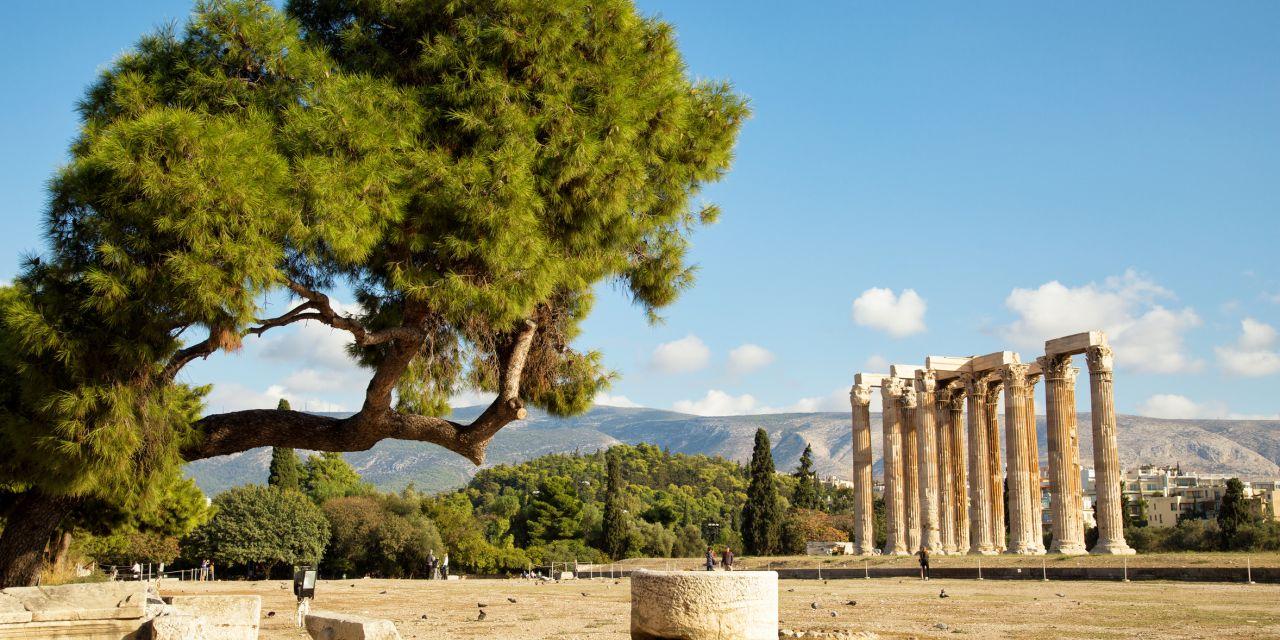 Der Tempel des Olympischen Zeus in Athen