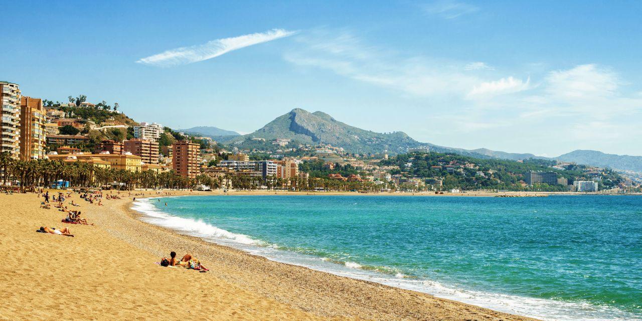 Playa de la Malagueta in Málaga