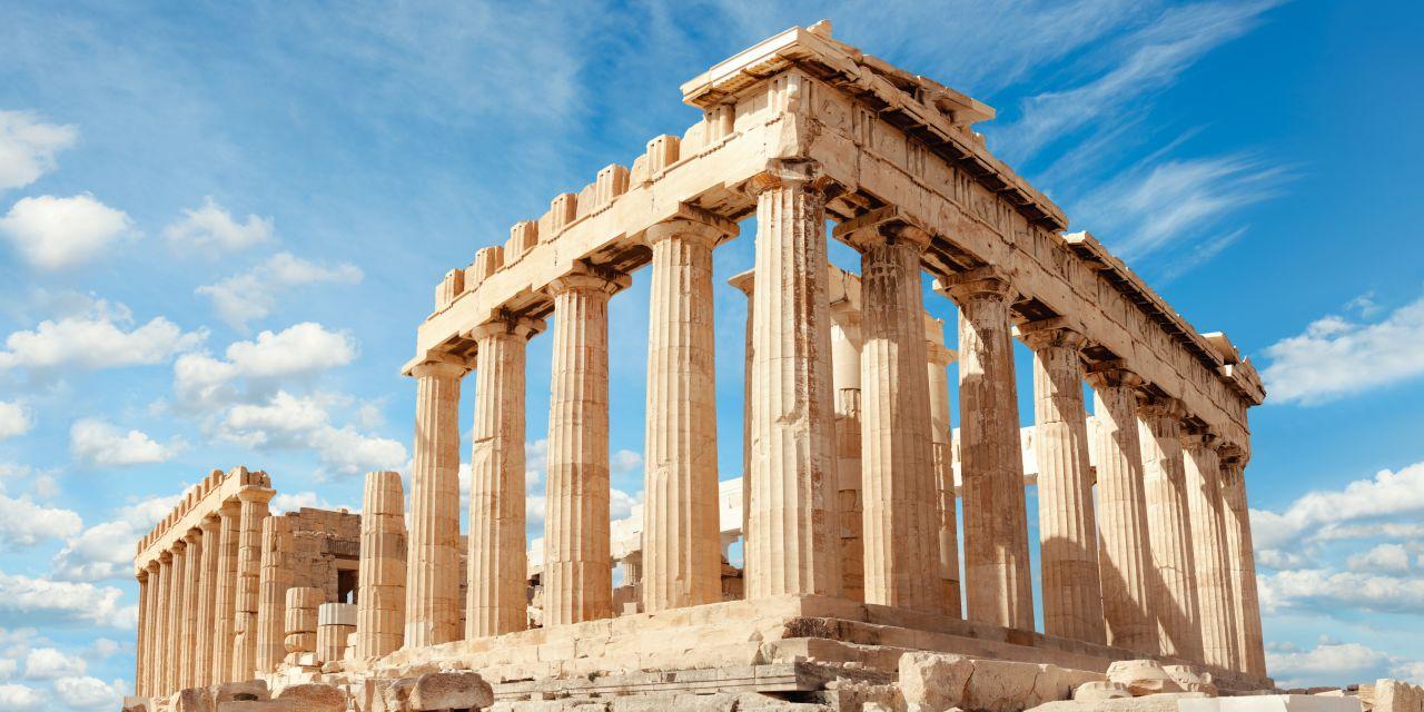 Der Parthenon der Akropolis