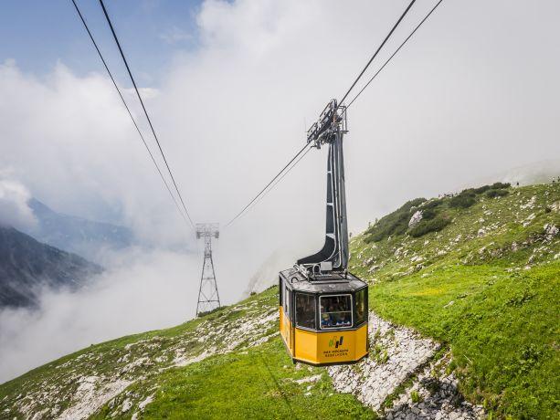 Nebelhorn-Bahn an der Bergstation