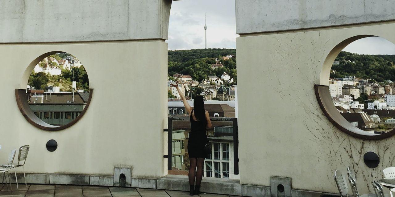 Der Blick vom Turm der Musikhochschule in Stuttgart
