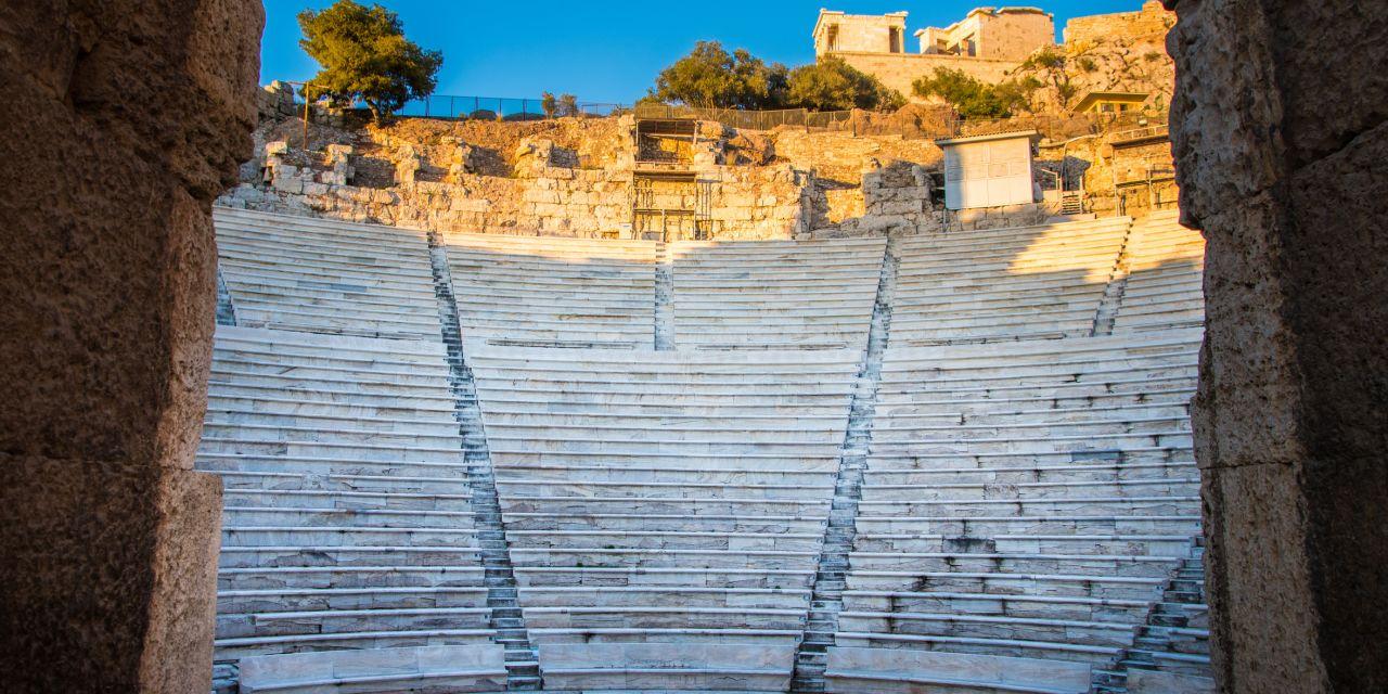 Im Odeon-Theater von Athen