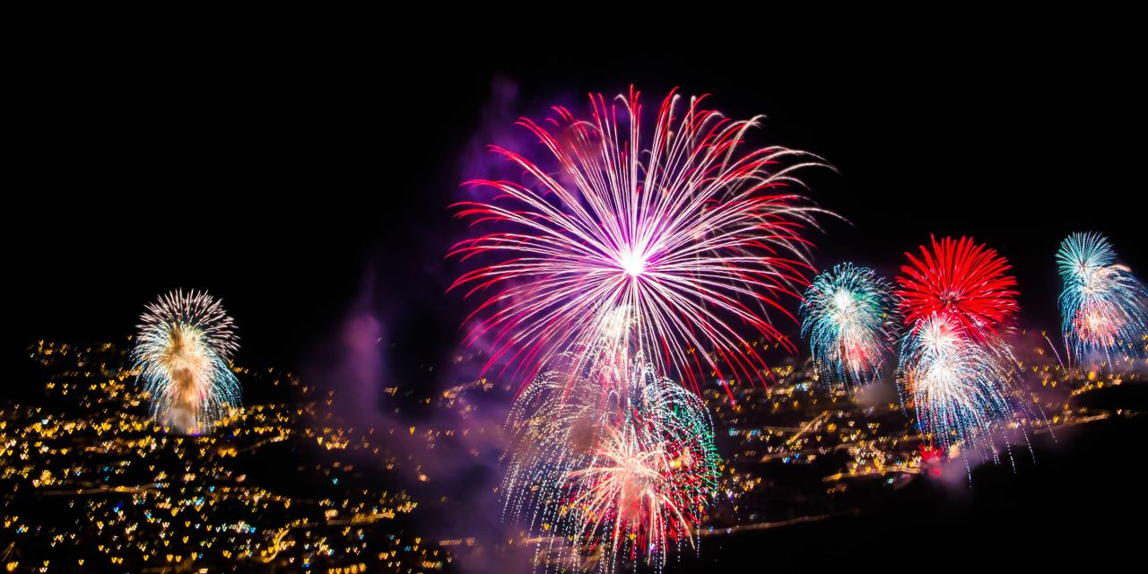 Feuerwerk über Madeira