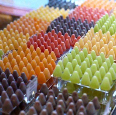Belgische Spezialität aus Gent – Cuberdons gibt`s auch in bunt