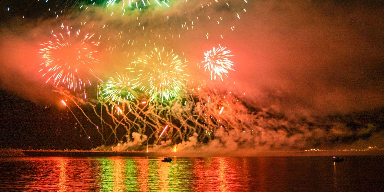 Feuerwerk in Kapstadt