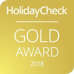 HolidayCheck Gold Award 2018