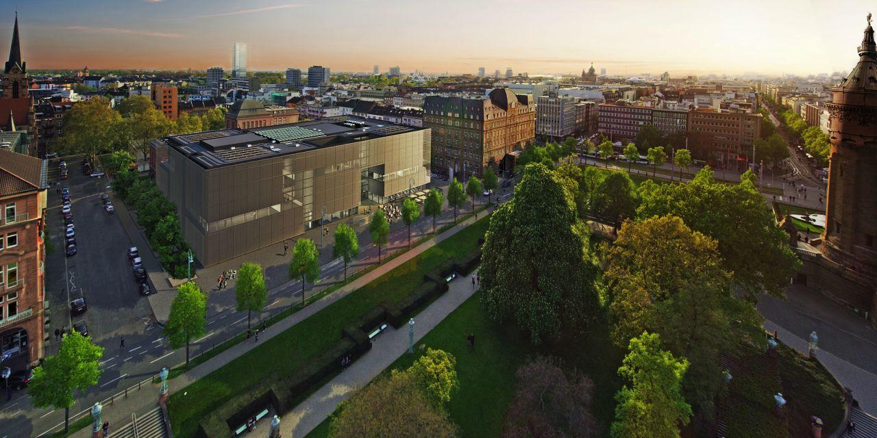 Neubau der Mannheimer Kunsthalle