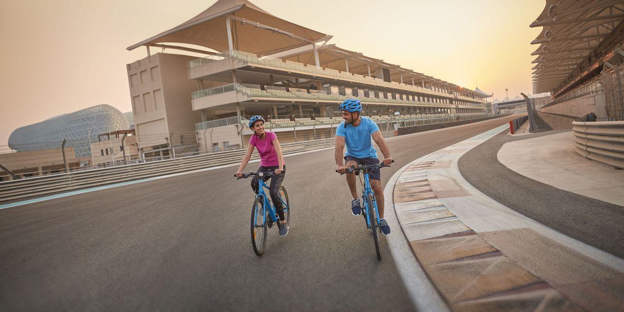 Fahrradfahren auf dem Marina Circuit