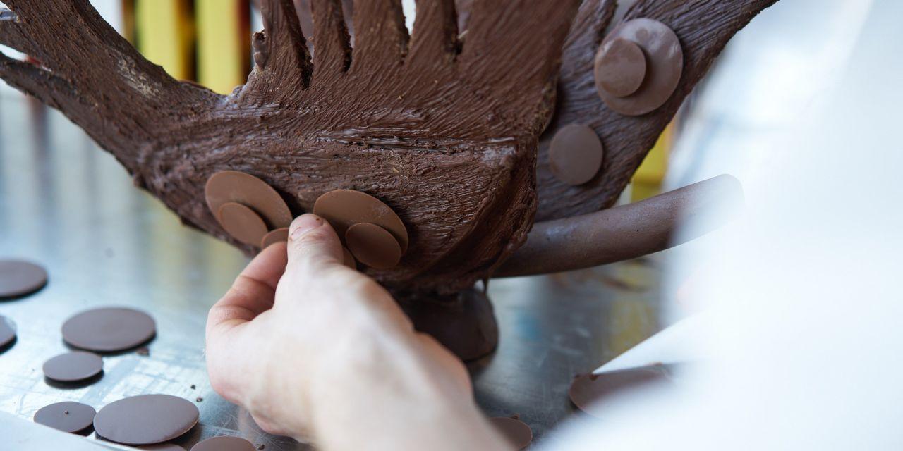 Schokoladenkunst auf dem Salon Du Chocolat t in Brüssel
