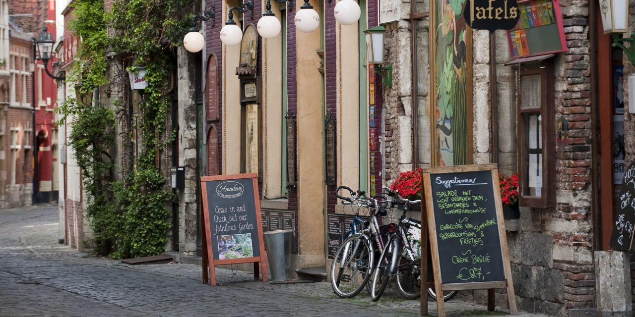 Das Viertel Patershol in Gent