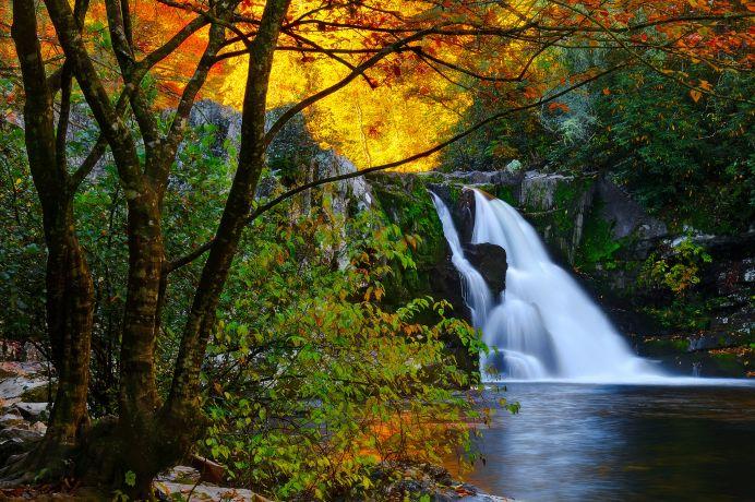 Wasserfall im Shenandoah National Park