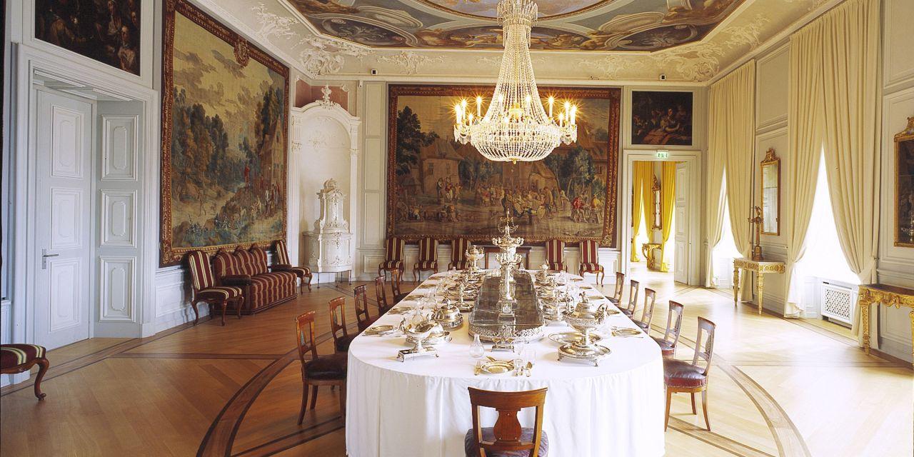 Schloss Mannheim – das Vorzimmer mit Prunksilber