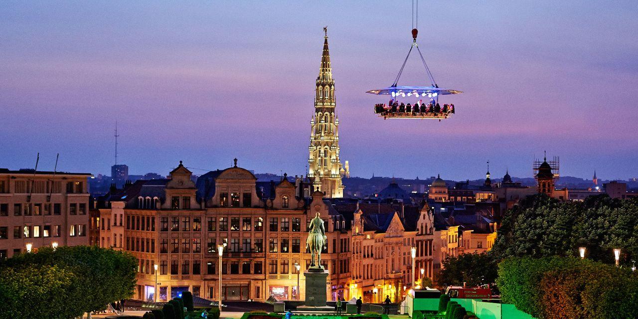 Dinner hoch über den Dächern von Brüssel