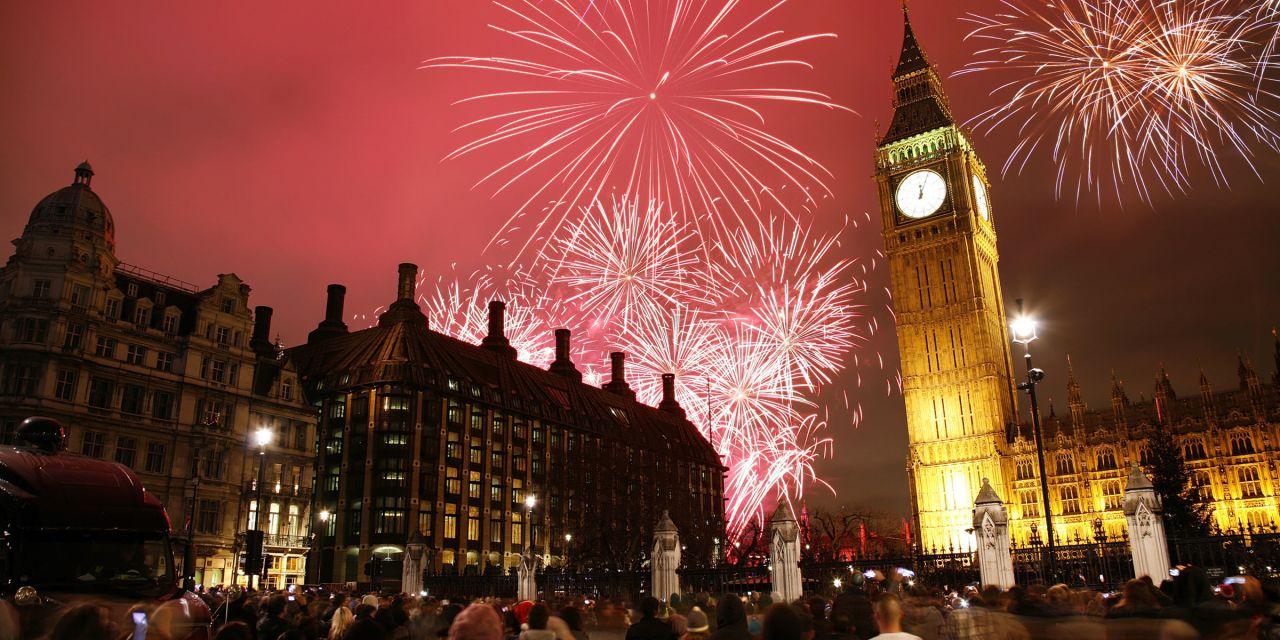 Feuerwerk am Big Ben