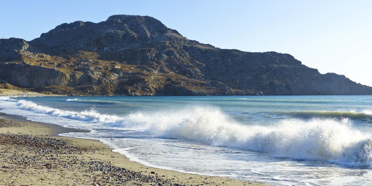 Große Wellen am Plakias Beach