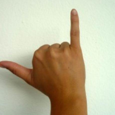 Finger und zeigefinger ausgestreckt kleiner Kleiner Finger