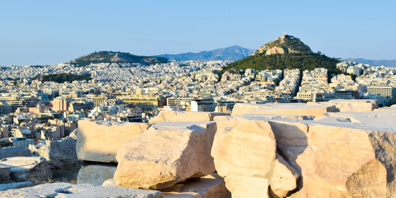 Der Berg Lycabettus in Athen