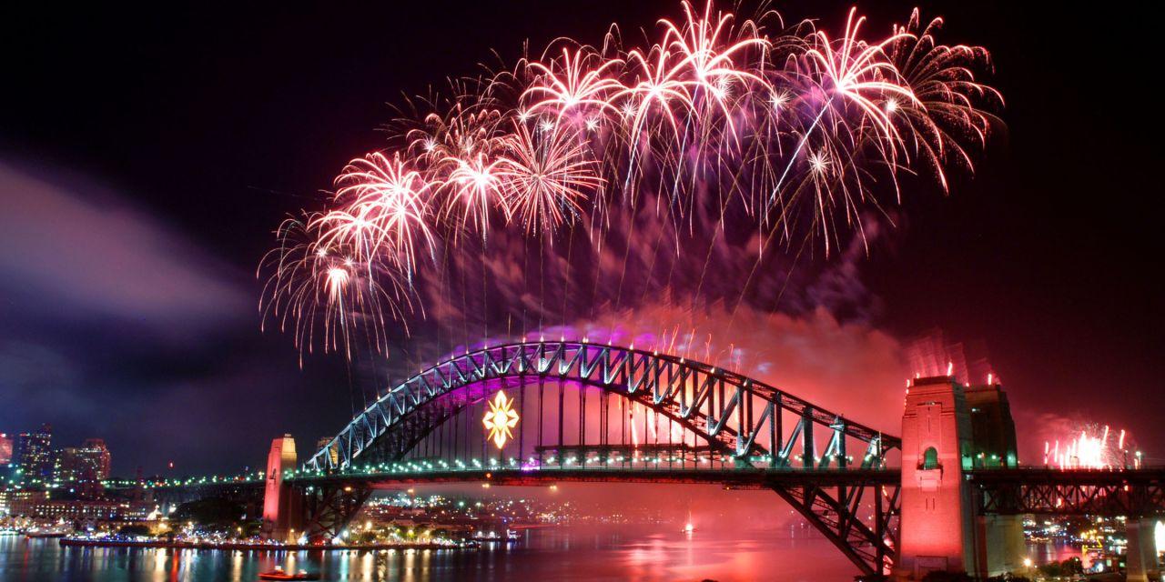 Silvesterfeuerwerk in Sydney