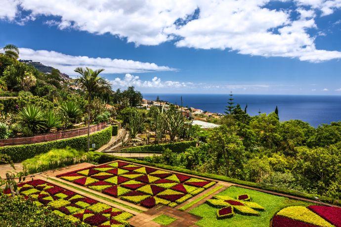 Blick auf den Botanical Garden in Funchal auf Madeira
