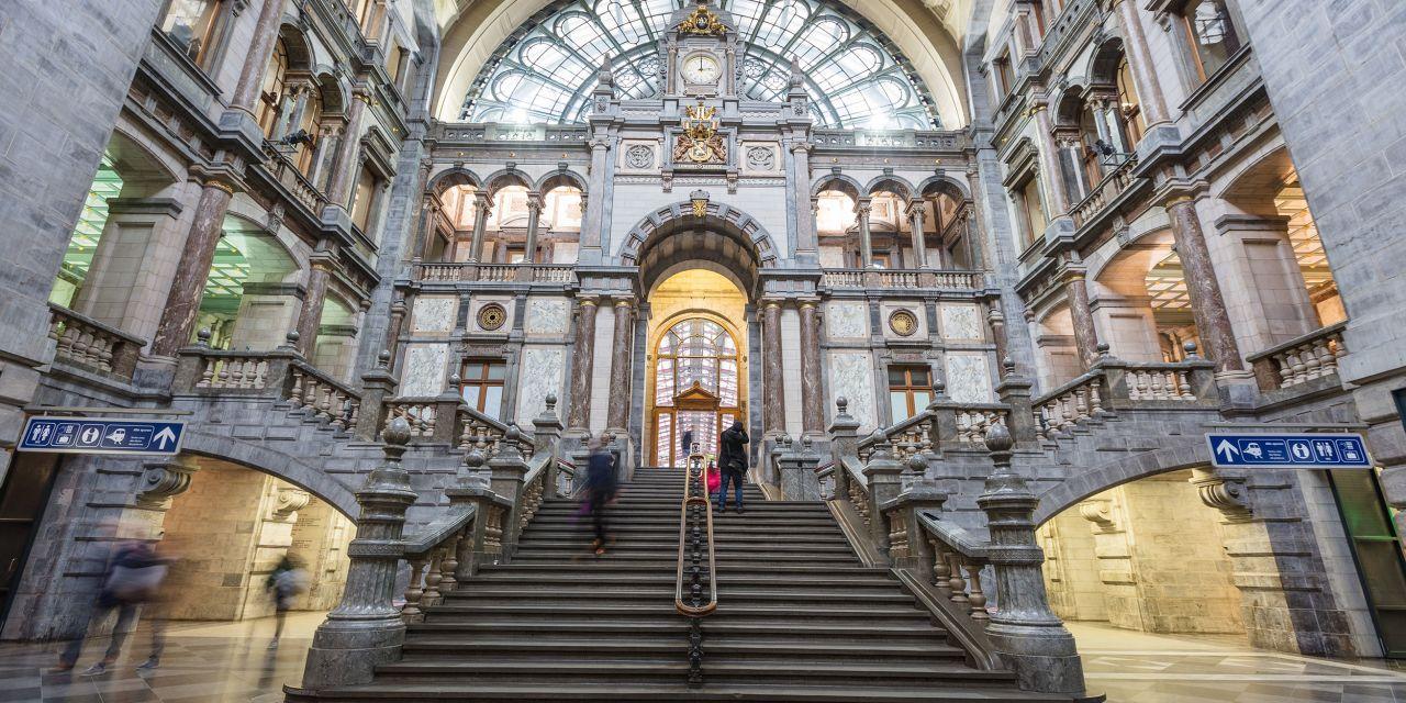 Der Antwerpener Hauptbahnhof