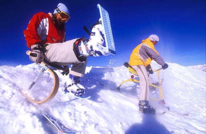 Skifahrer in Serfaus