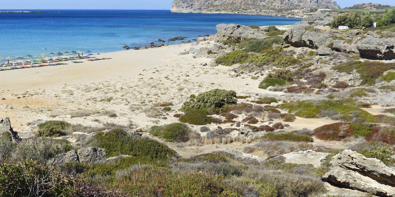 Die Bucht am Falassarna Beach